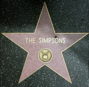 The Simpsons Hollywood Star