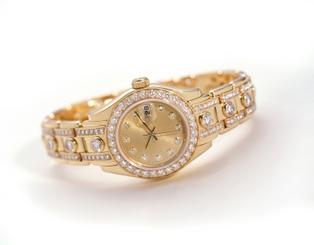 Gold Rolex with Diamonds