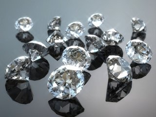 Many diamonds