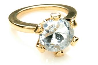 Large Fake Diamond Ring