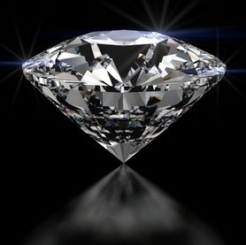 Diamond on black background